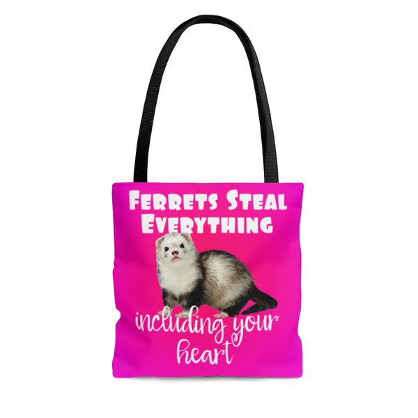 Ferrets Steal Everything Pink Tote Bag