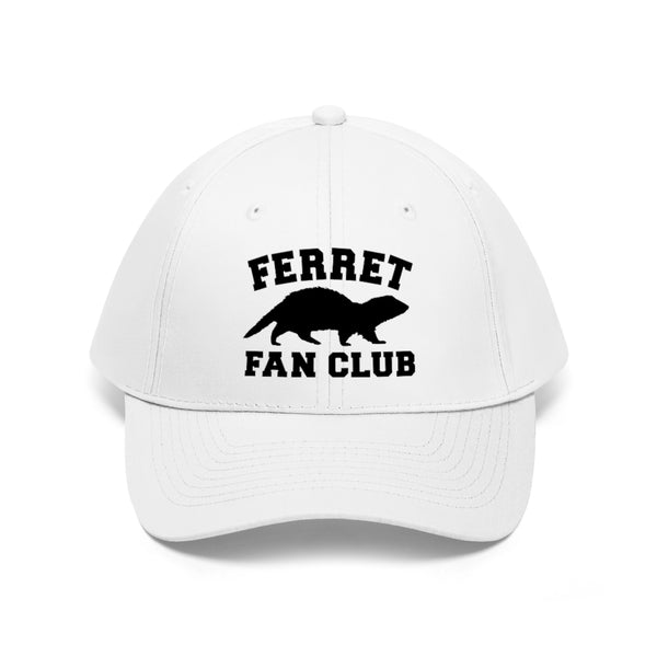 Ferret Fan Club white baseball hat