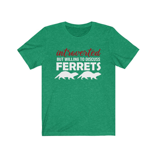Introverted But Willing to Discuss Ferrets T-Shirt