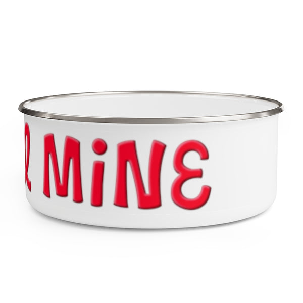 Mine All Mine Metal Food Dish