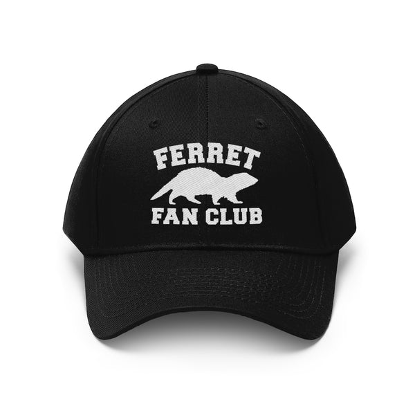 Ferret Fan Club black baseball hat