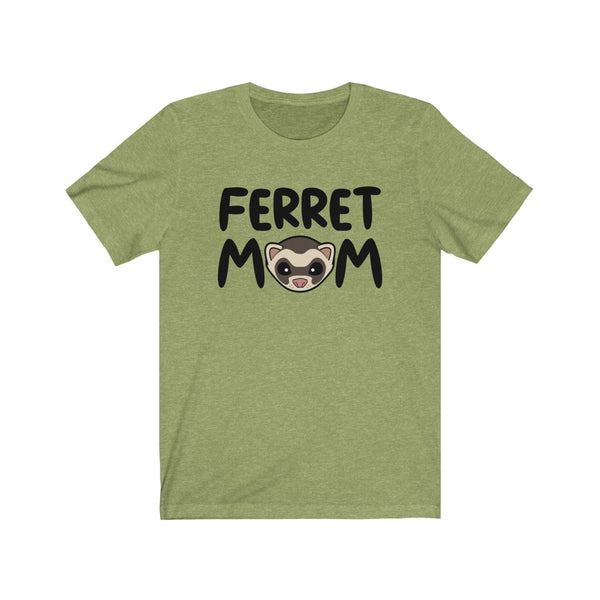FERRET MOM Cute Ferret Face (black text) T-Shirt