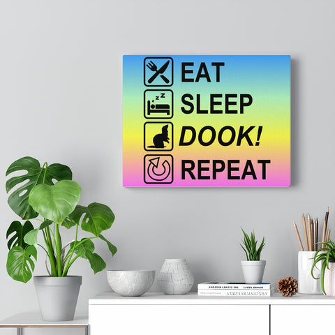 Eat Sleep Dook Repeat ~ Canvas Ferret Art