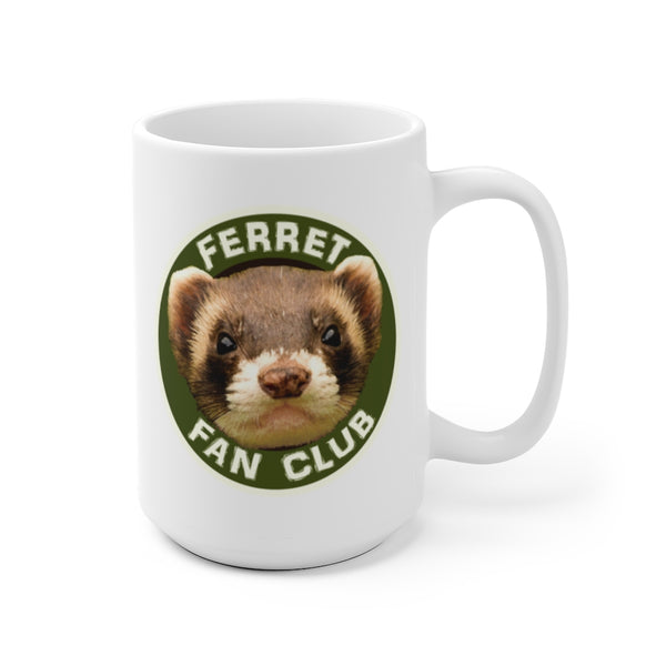 FERRET FAN CLUB Official Logo White Ceramic Mug