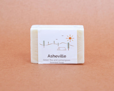 Asheville NC Scented Soap | Green Tea and Lemongrass
