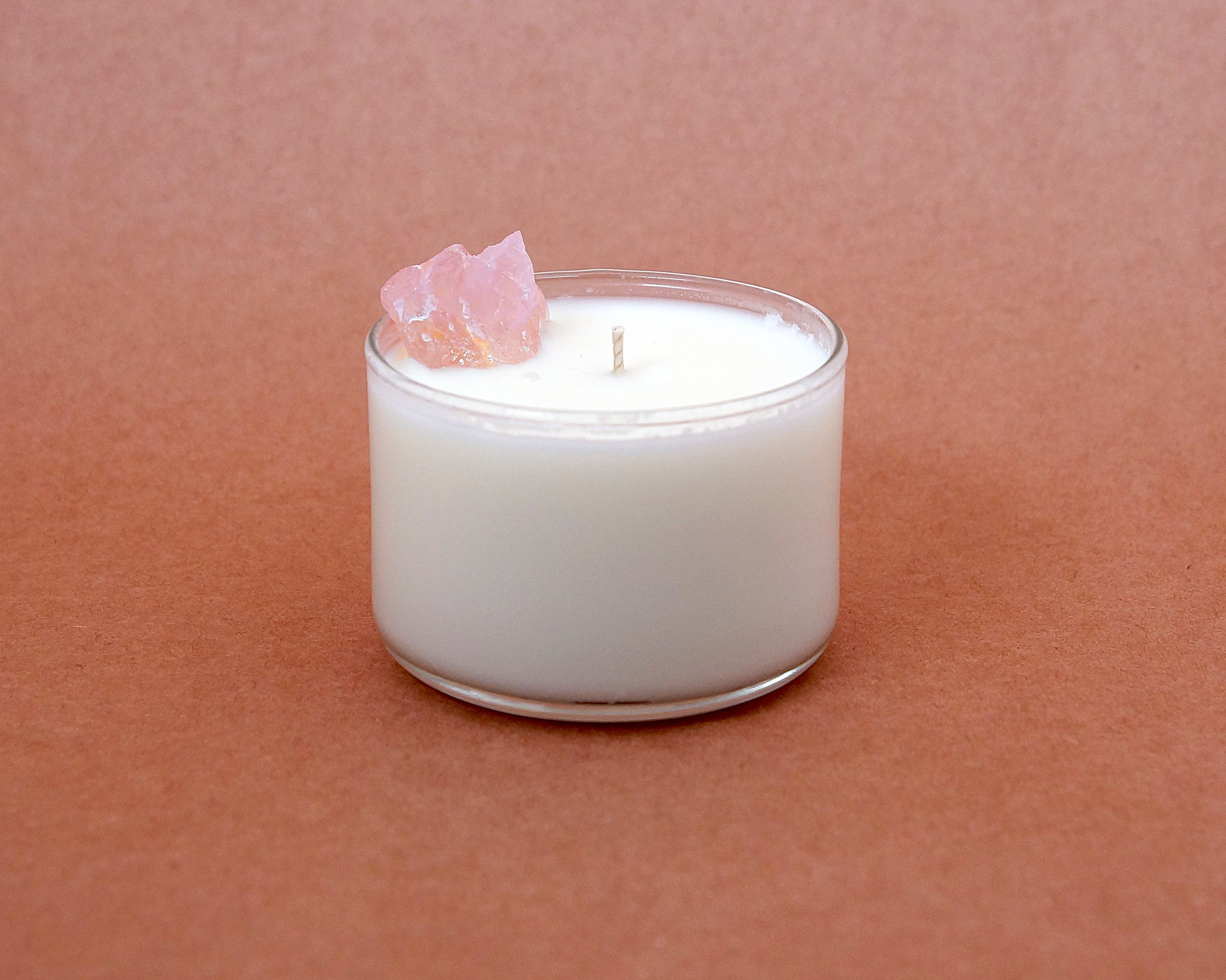 Rose Quartz Crystal Candle | Self Love