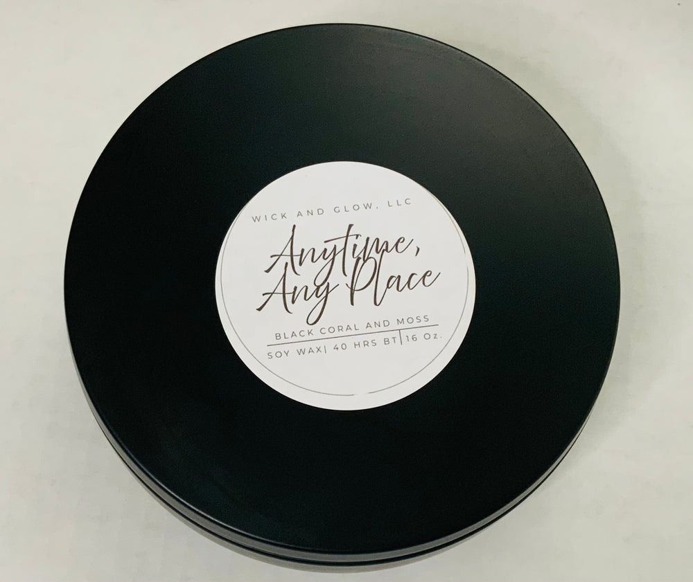 Anytime, Any Place | 16 oz | White Candle | Scented Candle