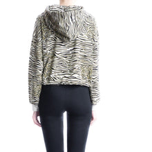 Load image into Gallery viewer, Angie zebra print cotton hoodie sweat Women Clothing Won Hundred