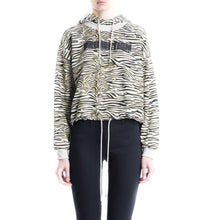 Load image into Gallery viewer, Angie zebra print cotton hoodie sweat Women Clothing Won Hundred XS
