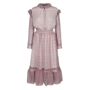 Archie silk checked midi dress Women Clothing Designers Remix