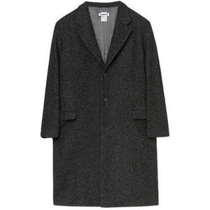 Area black herringbone wool coat Men Clothing Hope 48