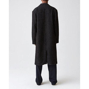 Area black herringbone wool coat Men Clothing Hope