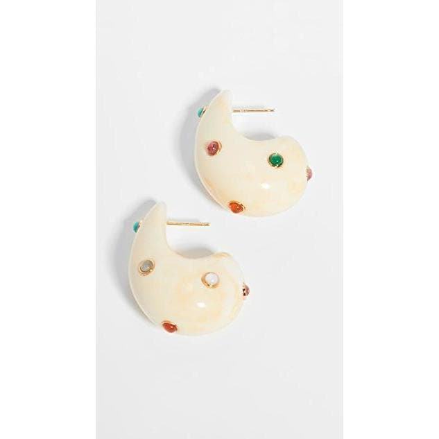 Arp Earrings In Dotted Cream Women Jewellery Lizzie Fortunato Cream One Size
