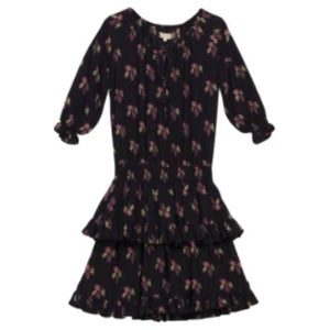 Bohemian floral printed mini dress Women Clothing ByTiMo