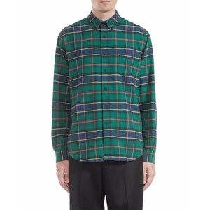Button green checked shirt Men Clothing Hope