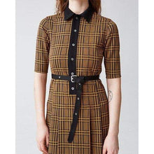 Load image into Gallery viewer, Cat checked midi dress Women Clothing Hope
