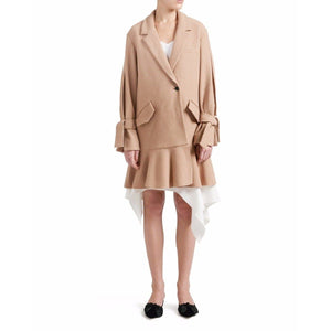 Edith wool ruffle coat Women Clothing Designers Remix