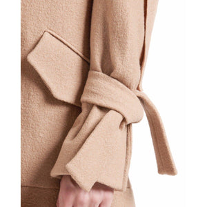 Edith wool ruffle coat Women Clothing Designers Remix 36
