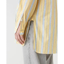 Load image into Gallery viewer, Far Yellow Stripe Cotton Shirt Men Clothing Hope