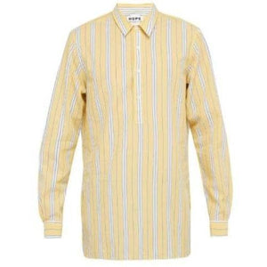 Far Yellow Stripe Cotton Shirt Men Clothing Hope 46