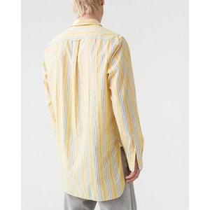 Far Yellow Stripe Cotton Shirt Men Clothing Hope