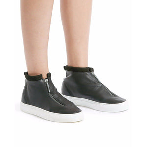 Fontesi leather mid top sneakers WOMEN SHOES Diemme