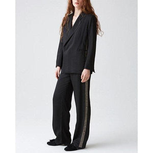 Forever striped double-breasted blazer Women Clothing Hope