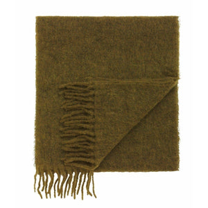 Fresia green fringed alpaca wool knitted scarf ACCESSORIES Holzweiler O/S