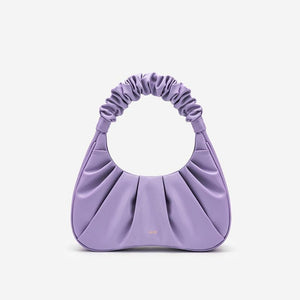 GABBI Small ruched vegan leather bag Women bag JW PEI Purple