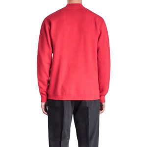 GAVIN red cotton crew neck sweater Men Clothing Won Hundred