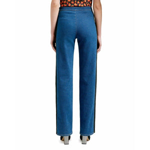 Kiera contrast panel jeans Women Clothing Won Hundred