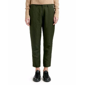Krissy army green cropped pants Women Clothing Hope