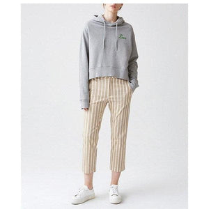 Lobby striped stretch cotton tapered pants Women Clothing Hope