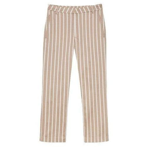 Lobby striped stretch cotton tapered pants Women Clothing Hope 34