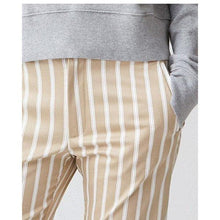 Load image into Gallery viewer, Lobby striped stretch cotton tapered pants Women Clothing Hope