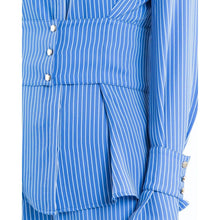 Load image into Gallery viewer, Lottie striped waist gathered shirt Women Clothing Designers Remix