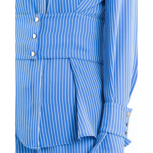 Lottie striped waist gathered shirt Women Clothing Designers Remix