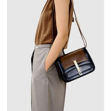 Load image into Gallery viewer, Medium contrast leather shoulder bag Women bag Serendippo