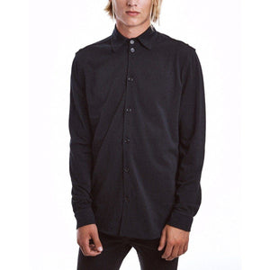 Mills black cotton uniform shirt Men Clothing Whyred 48