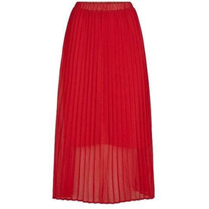 Moe red pleated skirt Women Clothing Just Female XS