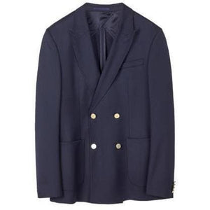 Monty Gabardine Navy Wool Stretch Blend Jacket Men Clothing Filippa K 48