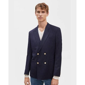 Monty Gabardine Navy Wool Stretch Blend Jacket Men Clothing Filippa K