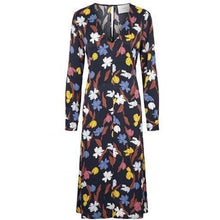 Load image into Gallery viewer, Nina floral print satin midi dress Women Clothing Just Female XS