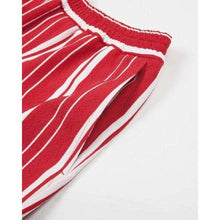 Load image into Gallery viewer, Red Stripe Front Shorts Men Clothing Libertine-Libertine