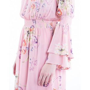 Semi Couture floral printed layered gown Women Clothing ByTiMo