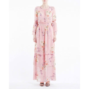 Semi Couture floral printed layered gown Women Clothing ByTiMo XS