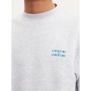 Society light grey cotton jersey sweatshirt Men Clothing Libertine-Libertine