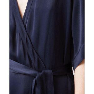 Split satin summer wrap dress Women Clothing Hope