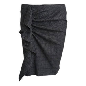 Taylor checked ruffle mini skirt Women Clothing Designers Remix