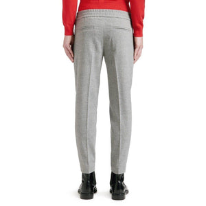Terry wool mix elastic waisted cropped pants Men Clothing Filippa K